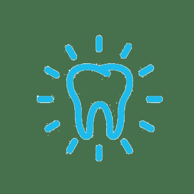 teeth whitening dentist icon